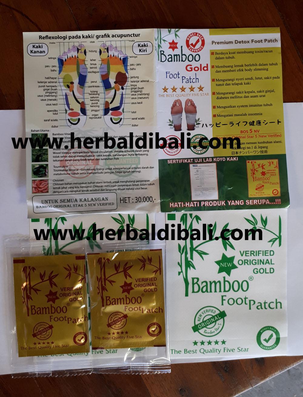 Jual Koyo Kaki Bamboo Gold Detox Di Denpasar Bali Produk Penyerap Racun Tubuh Foot Patch Original Home Sehat Herbal